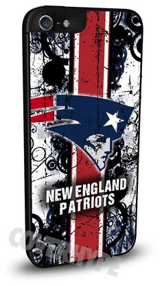 New England Patriots Cell Phone Hard Case for iPhone 6, iPhone 6 Plus, iPhone 5/5s, iPhone 4/4s or iPhone 5c