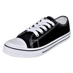 6bcd85e944 Ebay Angebot S  Low Top Damen Sneaker Canvas Sport Schnür Schuhe  Sportschuhe Turnschuhe Gr.