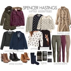 """""""Spencer Hastings inspired winter essentials"""" by liarsstyle on Polyvore"""