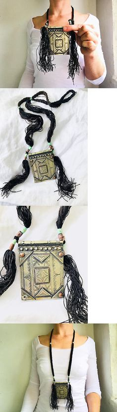 Necklaces and Pendants 98481: Tuareg Amulet And Tassels Necklace. Silver Alloy And Leather. -> BUY IT NOW ONLY: $127 on eBay!
