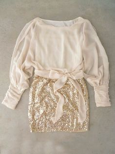 Sparkling Darling Dress in Ivory