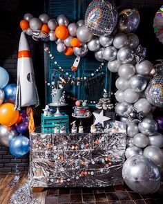 SM Party Космическая вечеринка // Space party with Meri Meri party supplies 2nd Birthday Parties, Birthday Party Decorations, Birthday Celebration, Birthday Kids, Decoration Party, Birthday Balloons, Happy Birthday, Astronaut Party, Alien Party