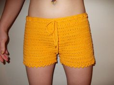 Crochet Shorts  Women Crochet Boy Shorts   by GabysSchaufenster, $29.50