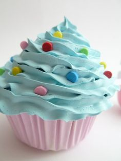 FAKE CUPCAKE for photography photo props ,photographer props first birthday party centerpieces bakery ,blue icing unique gifts for hostess