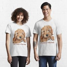 Graphic Tee Shirts, Goldendoodle, My T Shirt, Tshirt Colors, Wardrobe Staples, Female Models, Tired, Heather Grey, Classic T Shirts