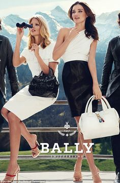 Bally spring / summer 2012 Ad Campaign Models: Julia Stegner & Miranda Kerr Photography by Norman Jean Roy Miranda Kerr, Fashion Advertising, Advertising Campaign, Campaign Posters, Julia Stegner, Norman Jean Roy, Jil Sander, Tom Ford, Supermodels