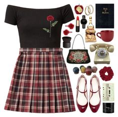 """""""//heather//"""" by bananafrog ❤ liked on Polyvore featuring Lulu Guinness, Zara, LIST, philosophy, Mimco, Pier 1 Imports, CLUSE, Topshop and NARS Cosmetics"""