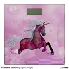 Wonderful unicorn bathroom scale  | by stylishdesign1 #S6GTP ~ Created by one of my friends  at  #Zazzle ~