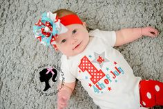 1st 4th of July Girls Silver Glitter Star by AverysAlley1 on Etsy