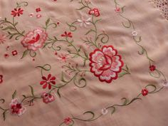 Vintage French embroidered piano shawl wrap by MyFrenchAntiqueShop, $124.00