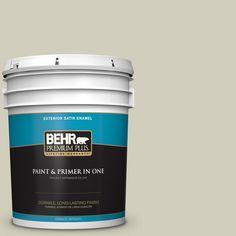BEHR Premium Plus 5-gal. #780C-3 Ocean Pearl Satin Enamel Exterior Paint