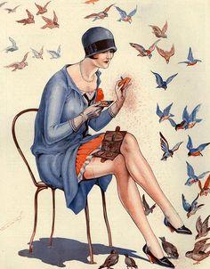 """hoodoothatvoodoo: """" Illustration by Vald 'Es For La Vie Parisienne 1920s """""""