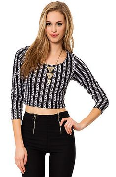 The Rendevous Top in Black and White by *MKL Collective