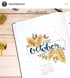 Fall Bullet Journal Inspiration Bullet journal theme inspiration for autumn Planner Bullet Journal, Bullet Journal Cover Page, Bullet Journal Writing, Bullet Journal School, Bullet Journal Spread, Bullet Journal Ideas Pages, Journal Covers, Bullet Journal Inspiration, Journal Pages