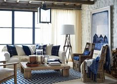 Amazing Ralph Lauren home! Great way of working with a central color of blue!