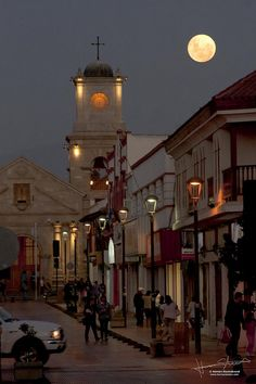 La Serena, Chile, Supermoon by Hernán Stockebrand, via Flickr