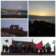 Easter morning sunrise service, St Ives, Cornwall.