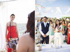 Cristina + Daniele {boda íntima en la playa de Son Bou, Menorca}
