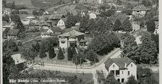 Atual Av. Argolo (primeiro plano), esquina com Manoel Tavares. Correu a lenda que a casas de esquina teria uma túnel até o atual Museu Mun...