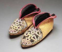 Traditional, real, Cherokee mocassins