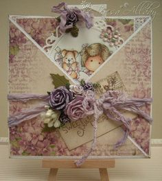 Image detail for -Pretty Hand Made Christmas Card Magnolia Tilda with Puppy ♥   eBay