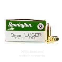 Remington 9mm Ammo - 50 Rounds of 115 Grain MC Ammunition #Remington #RemingtonAmmo #9mmammo #9mm