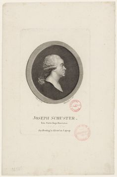 Joseph Schuster (1748-1812), engraving (1811), by Johann Christian Benjamin Gottschick (1776-1844), after a drawing (1796), by Friedrich Ludwig Vieth von Golßenau (1768-1848).
