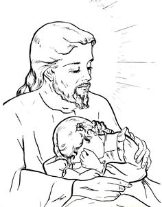 Jesus Our Comforter Catholic Coloring Page