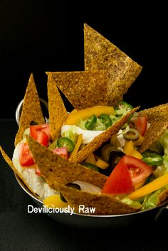 RawVegan Nachos, Ummm amazing lunch, diner, party food or what? If you are…