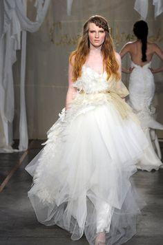 #Hair from the Carol Hannah bridal runway show, Spring 2012. See more #wedding beauty looks: http://ccwed.me/Izo9HA