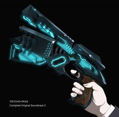 Psycho Pass Music Available Anime Weapons, Sci Fi Weapons, Makishima Shogo, Zombie Man, Anime Titles, Psycho Pass, Weapon Concept Art, Anime Music, Wattpad