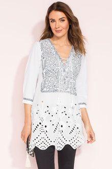 Capture Embroidered Tunic Online | Shop EziBuy