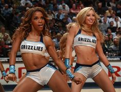 February 5, 2013 - Grizz Girls Christina and Lauren at the FedExForum Tuesday evening. (Nikki Boertman/The Commercial Appeal)