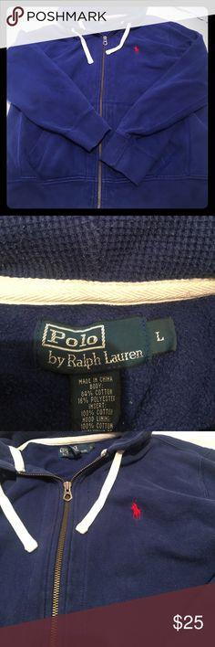 Men's Ralph Lauren zip sweatshirt size large EUC- Ralph Lauren zip up sweatshirt - no stains or holes- size large- Polo by Ralph Lauren Shirts Sweatshirts & Hoodies