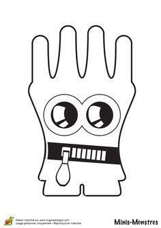 Dessin d'un mini monstre gant à colorier