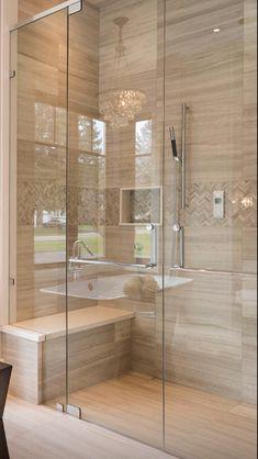 - Once Upon a Home Badezimmer Badezimmer dusche - Banyo yeniden modelleme Master Bathroom Shower, Modern Master Bathroom, Small Bathroom, Bathroom Showers, Small Bathtub, Vanity Bathroom, Bathroom Fixtures, Bathroom Shower Remodel, Condo Bathroom