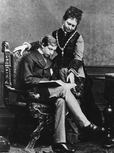 Vicky with Wilhelm ( later the Kaiser)