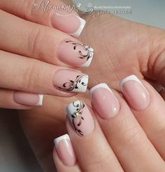 19 Easy and Beautiful Nail Art Designs 2018 just for you trendy nail designs attracted the craze of most women and girls. Nail Art Designs offers a multitude of v … Nail Styles Source by French Tip Nails, Rhinestone Nails, Nail Decorations, Beautiful Nail Art, Easy Nail Art, Simple Nails, Perfect Nails, Wedding Nails, Toe Nails