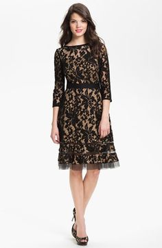 Tadashi Shoji Lace Overlay Dress available at #Nordstrom Would need a skirt extender, definitely!