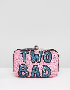From St Xavier X How Two Live Hand Beaded Two Bad Box Clutch Bag