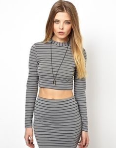 Buy ASOS Reclaimed Vintage Striped Jersey Polo Top at ASOS. With free delivery and return options (Ts&Cs apply), online shopping has never been so easy. Get the latest trends with ASOS now. Latest Fashion Clothes, Latest Fashion Trends, Fitness Brand, Striped Jersey, Asos Online Shopping, Polo, Turtle Neck, Crop Tops, Sweaters