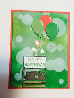 KnT Designs by Teresa: Cheerful Critter birthday Bokeh card