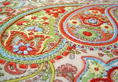 My Bohemian Aesthetic  Embroidered paisley fabric (source: Pinterest)