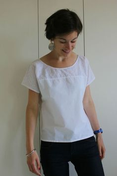 Minute (Aime comme Marie), en popeline blanche et broderie anglaise