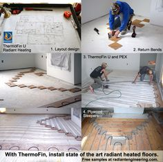 ThermoFin extruded aluminum heat transfer plates are the state of the art for radiant in-floor heating. Patented by Radiant Engineering, contact us for free samples at radiantengineering.com. #radiant #heat #floors