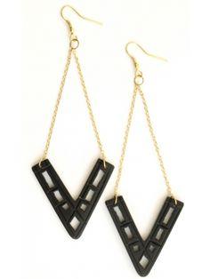 Artifact earrings black $18.00