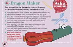 Our Dragon Maker craft from Storytime Issue 2's St George and the Dragon legend. ~ STORYTIMEMAGAZINE.COM