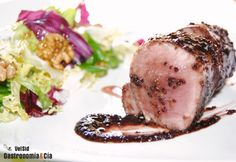 Solomillo con salsa de vino, mostaza y miel #recetas #gastronomía #cocina