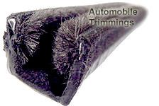 BE/9/2 automotive window channel (plush lining / metal inserts)