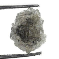 0.91 Ct Natural Loose Diamond Raw Rough Natural Shape Silver Gray Color